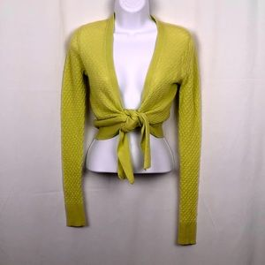 Title nine tie front cropped cardigan S